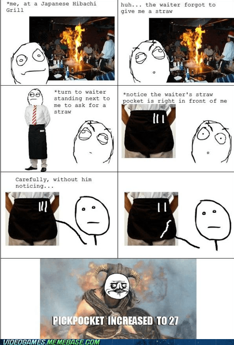 awesome increase pickpocket rage comic restaurant Skyrim - 6137986048