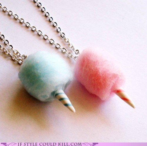 cool accessories cotton candy food necklaces - 6137994240