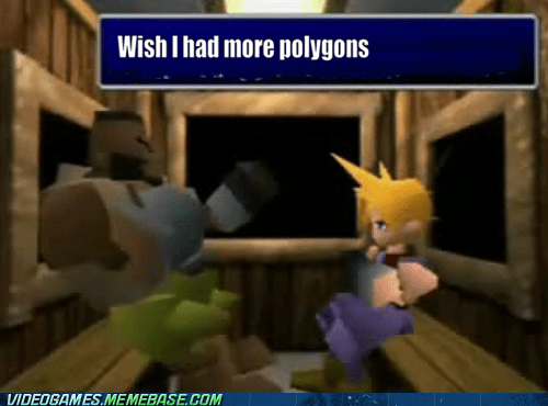 barret,cloud,emo,final fantasy,final fantasy VII,polygons,the feels