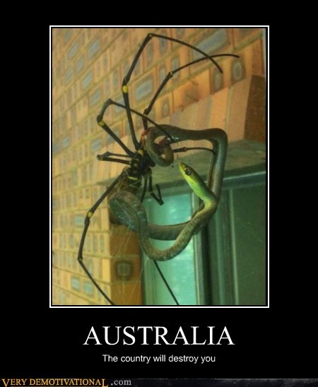 AUSTRALIA The country will destroy you