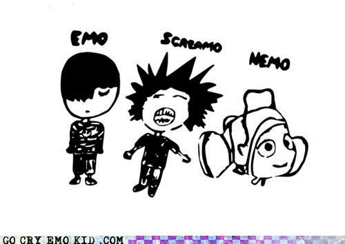 emo,emolulz,finding nemo,mo,Movie,screamo