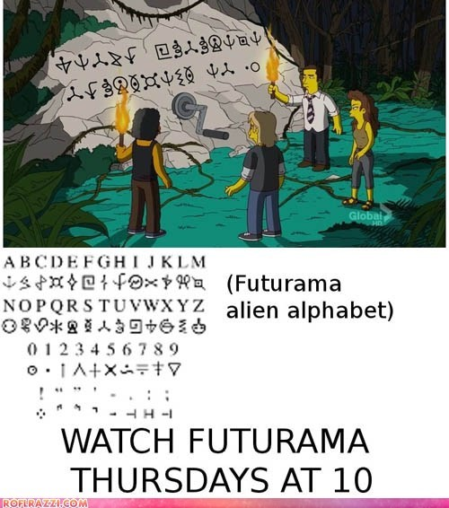 animation funny futurama the simpsons TV - 6138327808