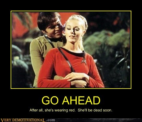 checkov hilarious red shirt Sexy Ladies Star Trek wtf - 6138390272
