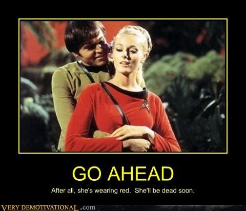 checkov hilarious red shirt Sexy Ladies Star Trek wtf - 6138390272