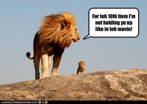 best of the week,cub,holding up,lion,lions,Movie,no,refuse,simba,the circle of life,the lion king