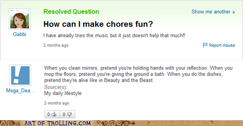 yahoo answers chores - 6138501632