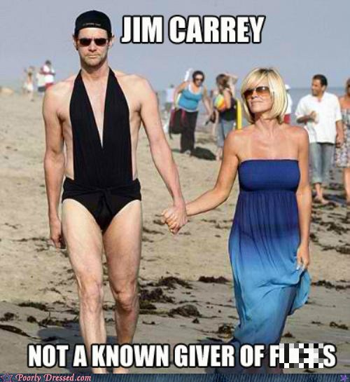 celeb,IDGAF,jim carey,swimsuit