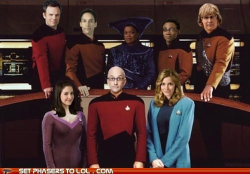 annie beverly crusher Captain Picard characters Chevy Chase community Donald glover jeff winger joel mchale levar burton mashup Star Trek Worf - 6138895872