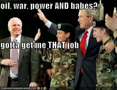 george w bush john mccain military president Republicans soldiers - 613916416