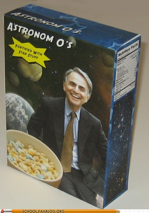 Astronom Os carl sagan cereal science - 6139265792
