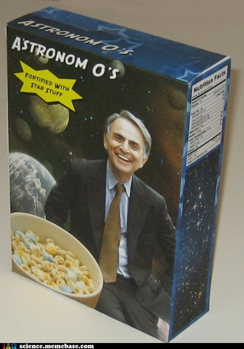 Astronomy,carl sagan,cereal,science