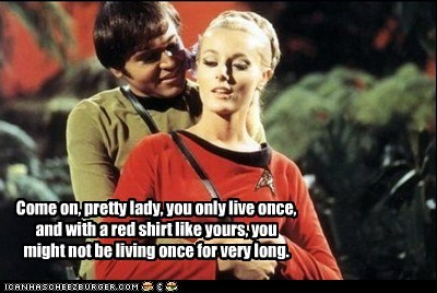 chekov,living,pick-up lines,red shirt,Star Trek,walter koenig