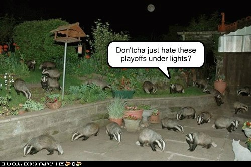 Don'tcha just hate these playoffs under lights?