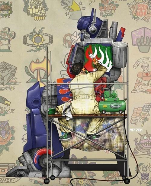 deviant art Fan Art optimus prime transformers