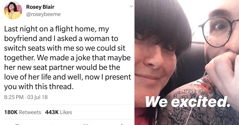 couple swaps chairs and stranger they swapped with meets someone