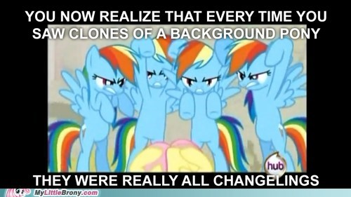 background pony changelings errors finale meme rainbow dash - 6141417984