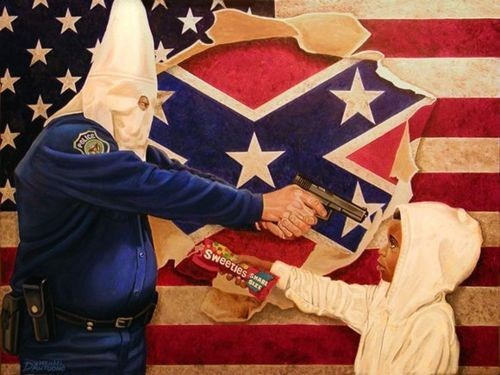 art George Zimmerman painting Photo political racial tension Trayvon Martin