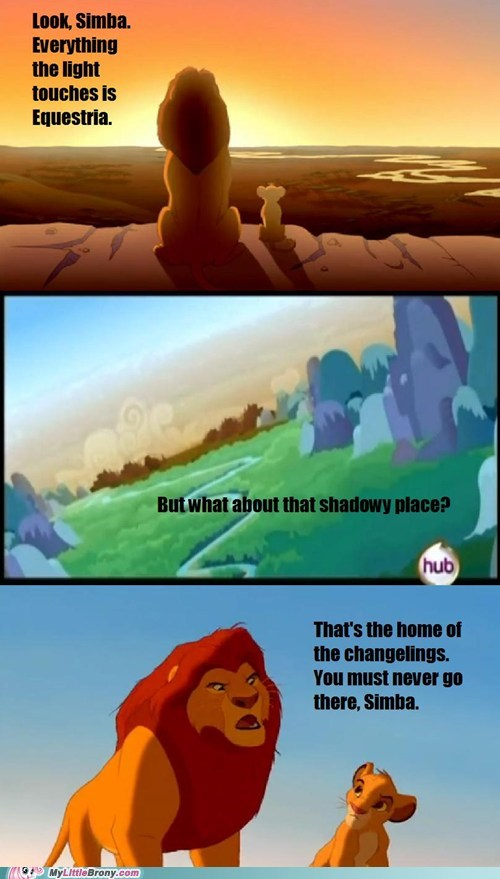 changelings comic equestria lion king meme - 6141774592