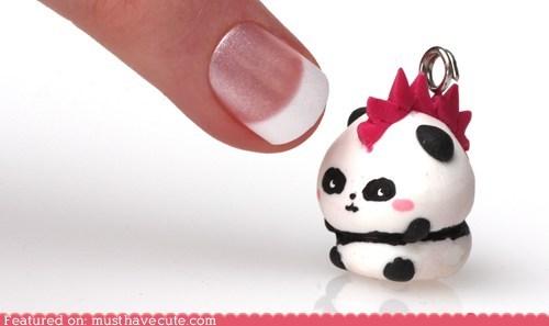 charm hardcore mohawk panda pink punk - 6141902080