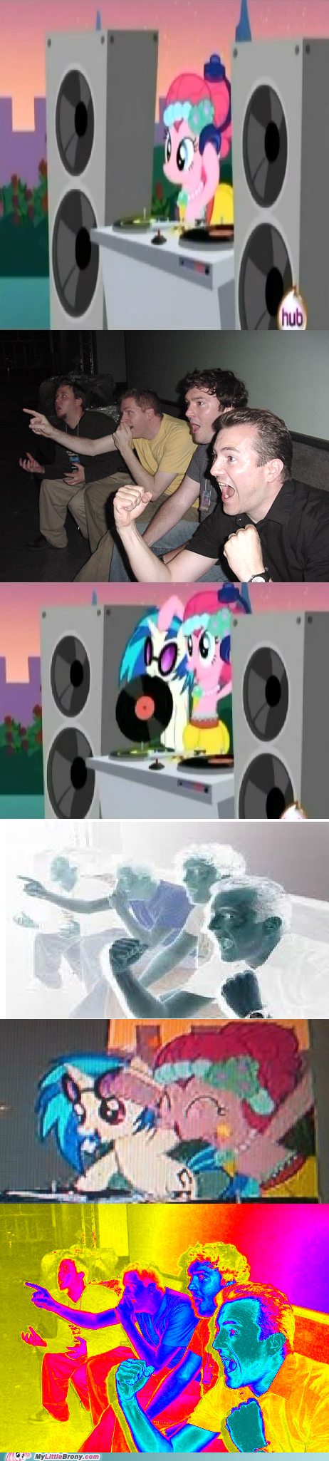 canon dj-pon3 meme pinkie pie reaction guys red eyes vinyl scratch - 6141964544