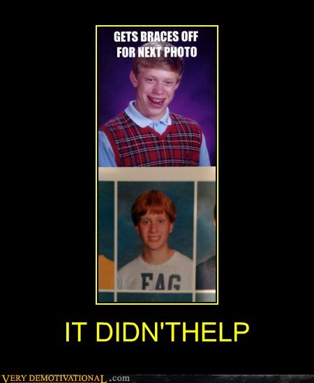 bad luck brian braces hilarious Photo - 6142134272