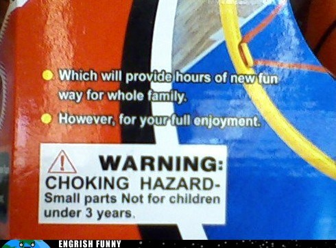choking hazard,warning label