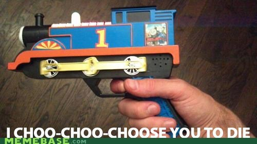 choose forget gun Memes train - 6142880256