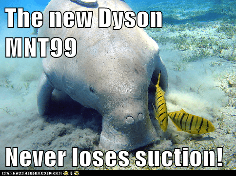 Ad commercial dugong dyson fish suction vacuum cleaner