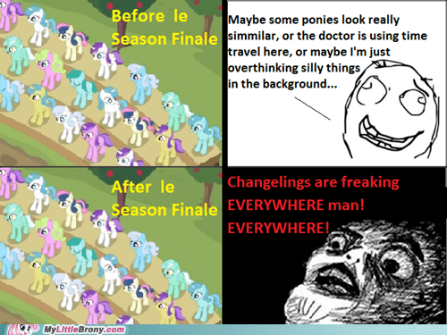 background ponies changelings rewatching season finale TV - 6143018240