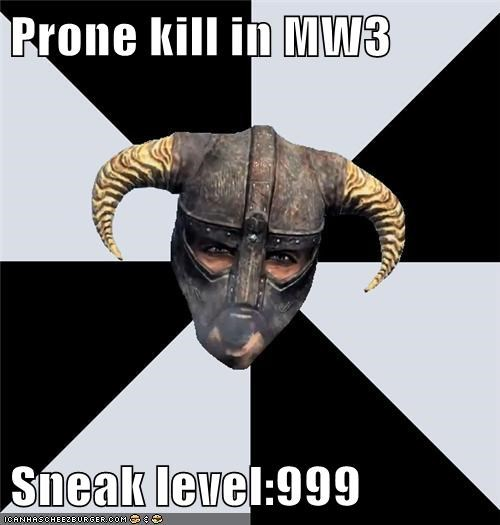 Prone Kill In Mw3 Sneak Level999 Memebase Funny Memes