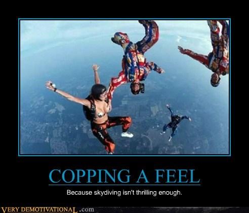bewbs good idea hilarious skydiving - 6143291392