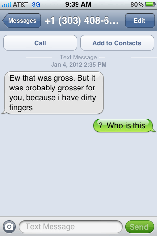 Awkward gross who is this wrong number - 6143379968