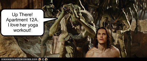 apartment John Carter peeping taylor kitsch Telescope yoga - 6143812096