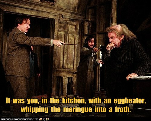 clue cooking david thewlis egg beater food froth Gary Oldman Harry Potter meringue peter pettigrew professor lupin sirius black timothy spall