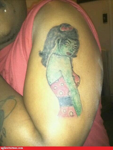 Ugliest Tattoos Pin Up Bad Tattoos Of Horrible Fail Situations
