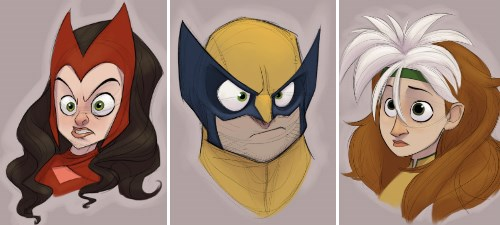 These Doodles Prove That The X-Men Would Make One Cute Disney Movie