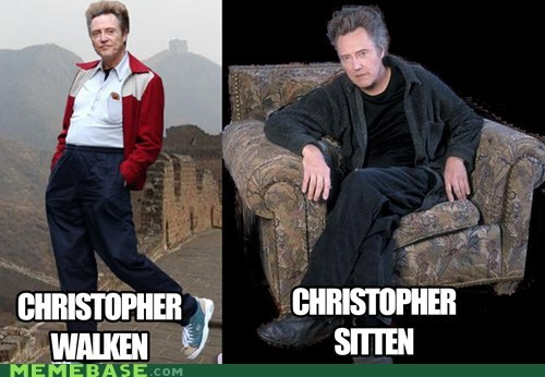 christopher walken creepy Memes puns sitting