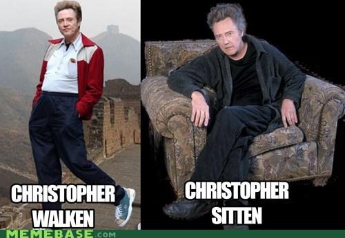 christopher walken creepy Memes puns sitting - 6144166912