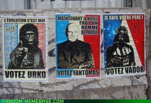 fantomas,It Came From the Interwebz,Planet of the Apes,politics,star wars,urko,vader