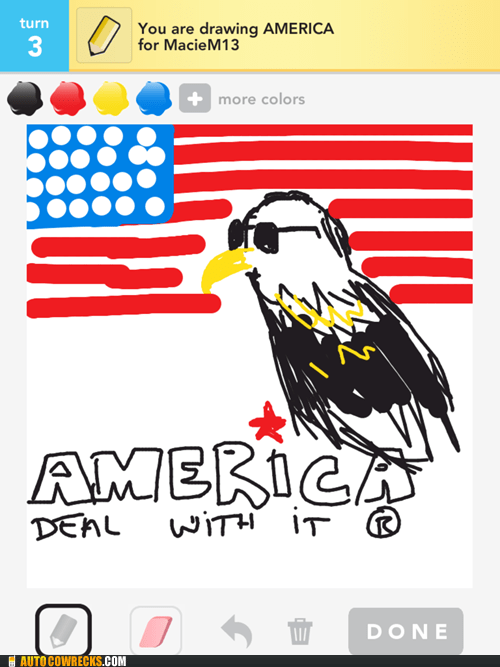 america Deal With It draw something eagles - 6145430528