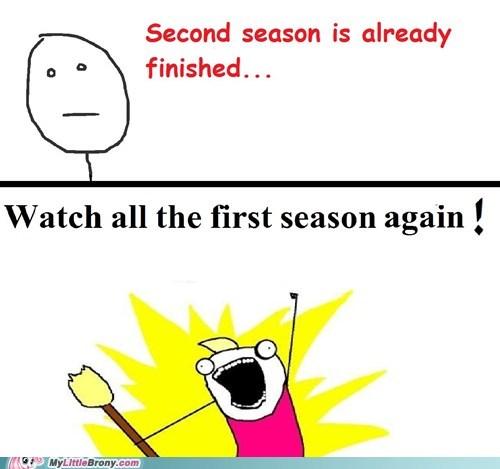 all the things Bronies first season meme second season - 6145477376