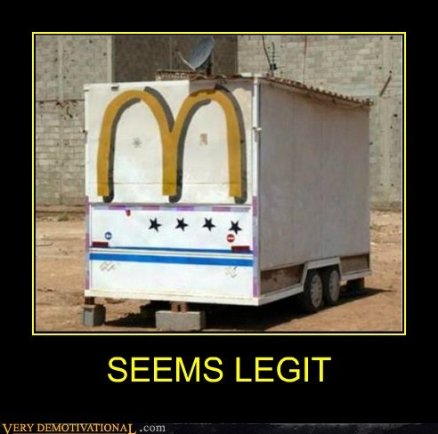 hilarious,McDonald's,seems legit,trailers