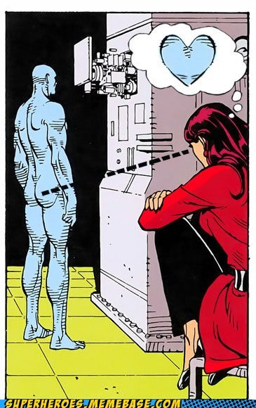 booty,dr-manhattan,Silk Spectre,Straight off the Page,the watchmen