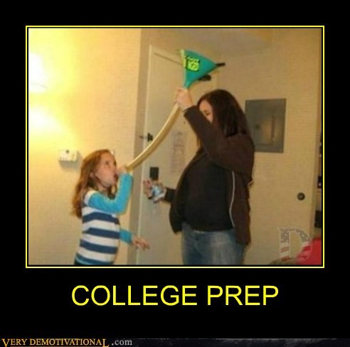 beer bong college prep good idea kid Pure Awesome - 6145811200