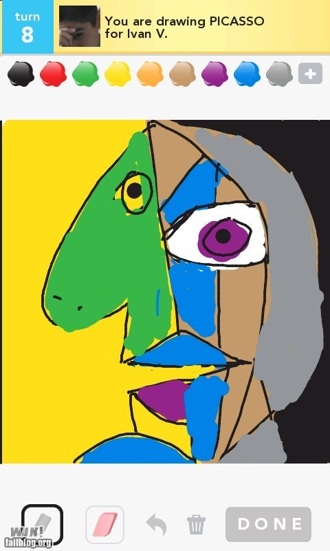 abstract art draw something picasso