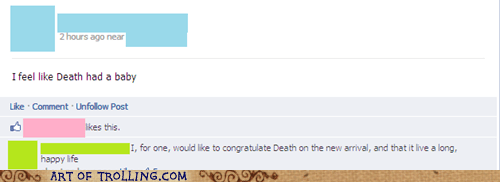 baby Death facebook whining