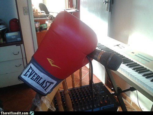 boxing glove,everlast,keyboard,mic support