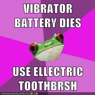 VIBRATOR BATTERY DIES USE ELLECTRIC TOOTHBRSH
