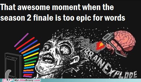 The season 2 finale was so... too epic for words