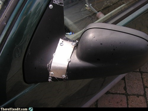 car fail,car fix,frankenstein,mirror,wing mirror